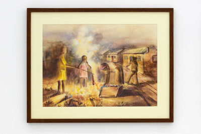 Durant Sihlali, 'Burning refuse', 1964