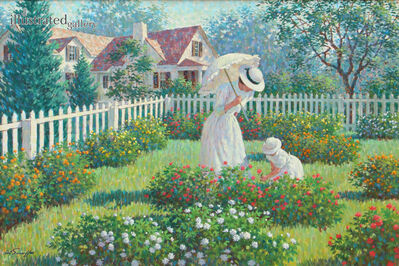 Arthur Sarnoff, 'Mother and Daughter in Garden', 1960