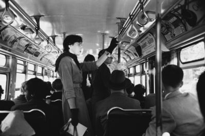 Werner Bischof, 'Bus commute, New York, USA', 1953