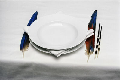 Lothar Baumgarten, 'The origin of table manners', 1971