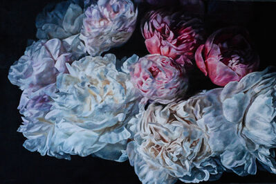 Robert Lemay, 'White & Magenta Peonies 4', 2020