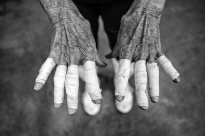David Burnett, 'The Hands of a Senior Volleyball Player, the Huntsman World Games, St George, Utah', 2019