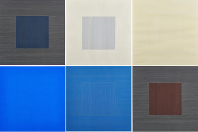 Sol LeWitt, 'Six works from Lines in Two Directions & In Five Colors on Five Colors with All Their Combinations', 1981