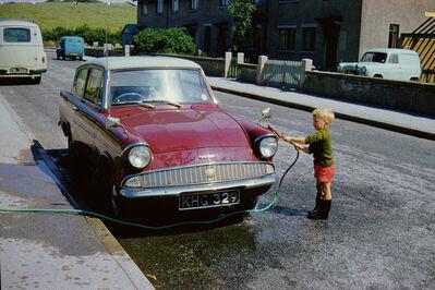 Geoffrey Valentine, 'Washing the Anglia', 1962