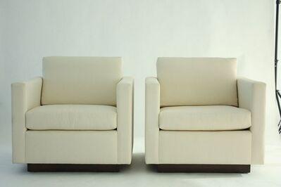 Nicos Zographos, 'Pair of Tuxedo Lounge Chairs'