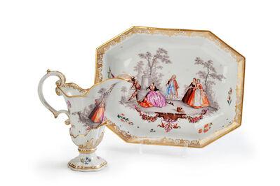 Meissen Porcelain Factory, 'A Rare Meissen Ewer and Octagonal Basin', ca. 1745