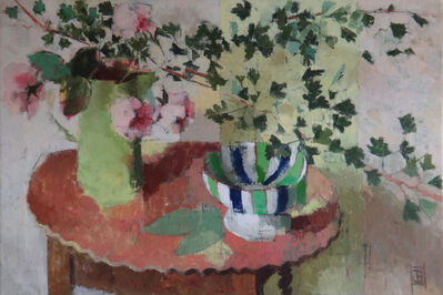 Jill Barthorpe, 'Striped Bowl with Hawthorn', 2018