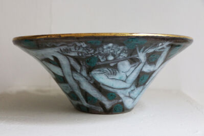 Édouard Cazaux, 'Large Enameled Cup in Earthenware by Edouard Cazaux, France, Art Deco, 1920-1930', 1920-1930