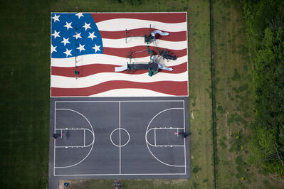 Alex Maclean, 'Flag Playground and Basketball Court', 2013