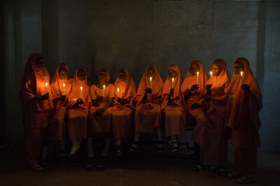Rahima Gambo, 'School Girls with Candles (2)', 2017