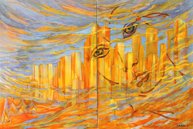 Evelyne Ballestra, 'Downtown (diptych)', 2012
