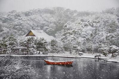 Steve McCurry, 'Boat Covered in Snow in Sankei-en Gardens', 1996