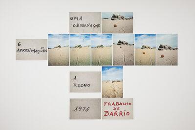 Artur Barrio, 'Uma observação, 6 aproximações, 1 recuo', 1975