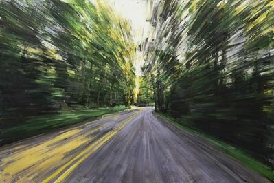 "Valerio D'Ospina, '""Driving In The Woods""', 2018"