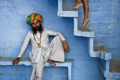 Steve McCurry, 'Man Beneath Stairs', 2005