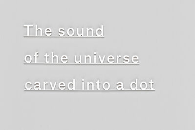 Katie Paterson, 'Ideas (The sound of the universe carved into a dot)', 2014