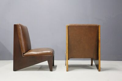 Lina Bo Bardi, 'Pair of Midcentury Italian Armchairs Attributed to Lina Bo Bardi in Walnut 1950s', 1950