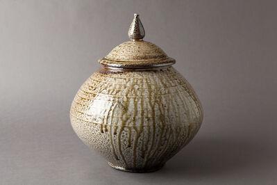 Mark Hewitt, 'Lidded jar, salt glaze with slip banding and natural ash drips', 2014