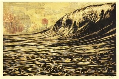 Shepard Fairey, 'Dark wave', 2017