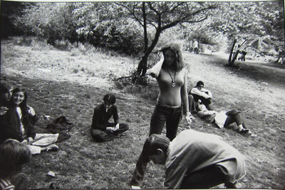 Garry Winogrand, 'Untitled Women Are Beautiful Series, Youths Outdoors, One Young Woman in Very Tight Sweater', 1975-1981