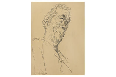 Feliks Topolski, 'Portrait of John Houston'