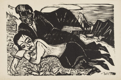 Ernst Ludwig Kirchner, 'Couple (Lovers)', 1921