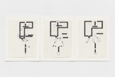 Barry Le Va, 'Untitled (hotel room triptych)', 2002