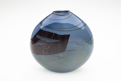 William Morris, 'Blue Glass Vase', 1979