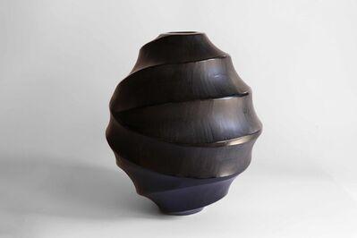 Massimo Micheluzzi, 'vaso  nero missiccio  soffiatto inciso  MICM-0082 ', 2020