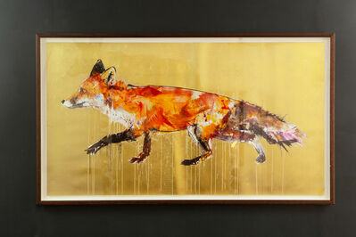 Dave White, 'Fox II (Gold Leaf)', 2017