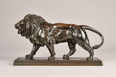 Antoine-Louis Barye, 'Walking Lion ', 19th century