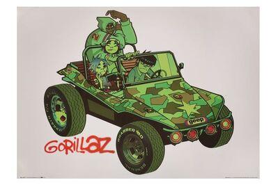 Jamie Hewlett, 'White Gorillaz Poster', 2001