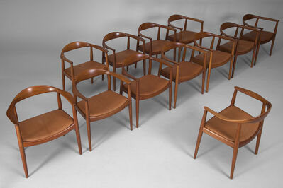 Hans Jørgensen Wegner, 'Set of Twelve 'The Chair', Model no. JH 50', ca. 1950