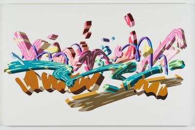 Soichi Yamaguchi, 'Overlap of paint (Flower bed 2)', 2019