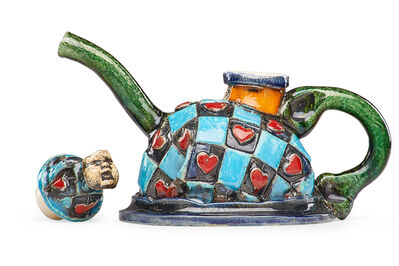 Erik Gronborg, 'Teapot with hearts and mask finial'