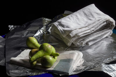 Peter Abrahams, 'Pears on a Newspaper', 2018