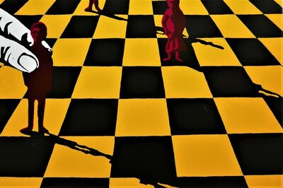 Lin Onus, 'Pawns—Yellow', 1996
