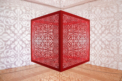 Anila Quayyum Agha, 'Shimmering Mirage (red)', 2019