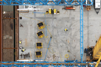 Stuart McCall, 'Port Mann Bridge: Deck From North Tower', 2012