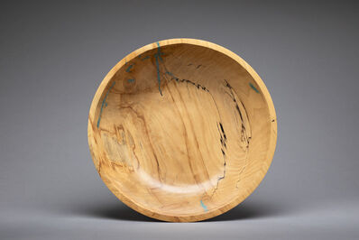 Dan Chevalier, 'Spalted Maple Bowl with Turquoise Inlay', 2014
