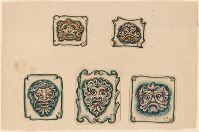 Elihu Vedder, 'Five Heads', ca. 1918