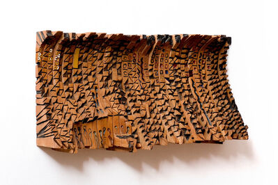 El Anatsui, 'Leopard's Paw-prints and Other Stories', 1991
