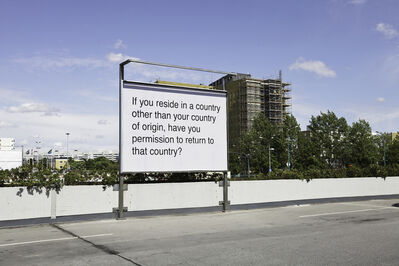 Meriç Algün Ringborg, 'Billboards (If you reside in a country other than your country of origin, have you permission to return to that country?)', 2012