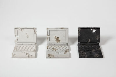 Daniel Arsham, 'Ash, Glacial Rock, and Obsidian Laptops', 2013