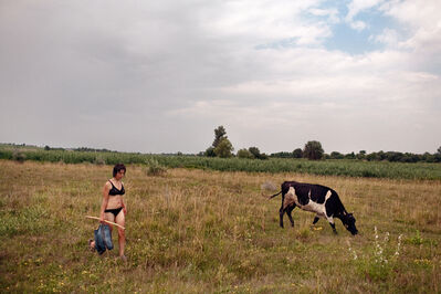 Donald Weber, 'Cow, Girl. Zholtye Vody, Ukraine', 2010