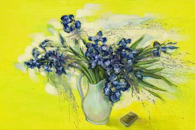 Mathieu Laca, 'Irises with Smartphone (after Van Gogh)', 2020