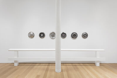 Rita McBride, 'Guide Rails with Hubcaps', 2017