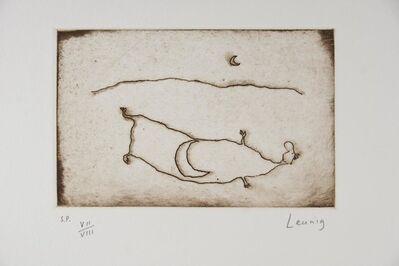 Michael Leunig, 'Man and Moon', 1991