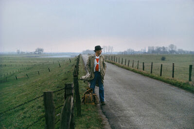 Gerd Ludwig, '#10 - Joseph Beuys on the levee near Düffelward', 1978