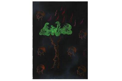 Arpana Caur, 'Flaming Tree', 1990